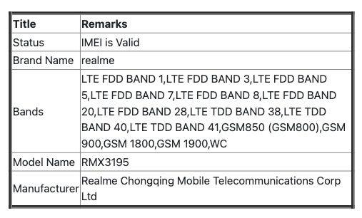 Sforum - Trang thông tin công nghệ mới nhất C-DOT-CEIR-Indian-IMEI-867899053354483 Realme C25s đi kèm với pin 6,000mAh được xác nhận tên gọi và chuẩn bị tiến ra thị trường