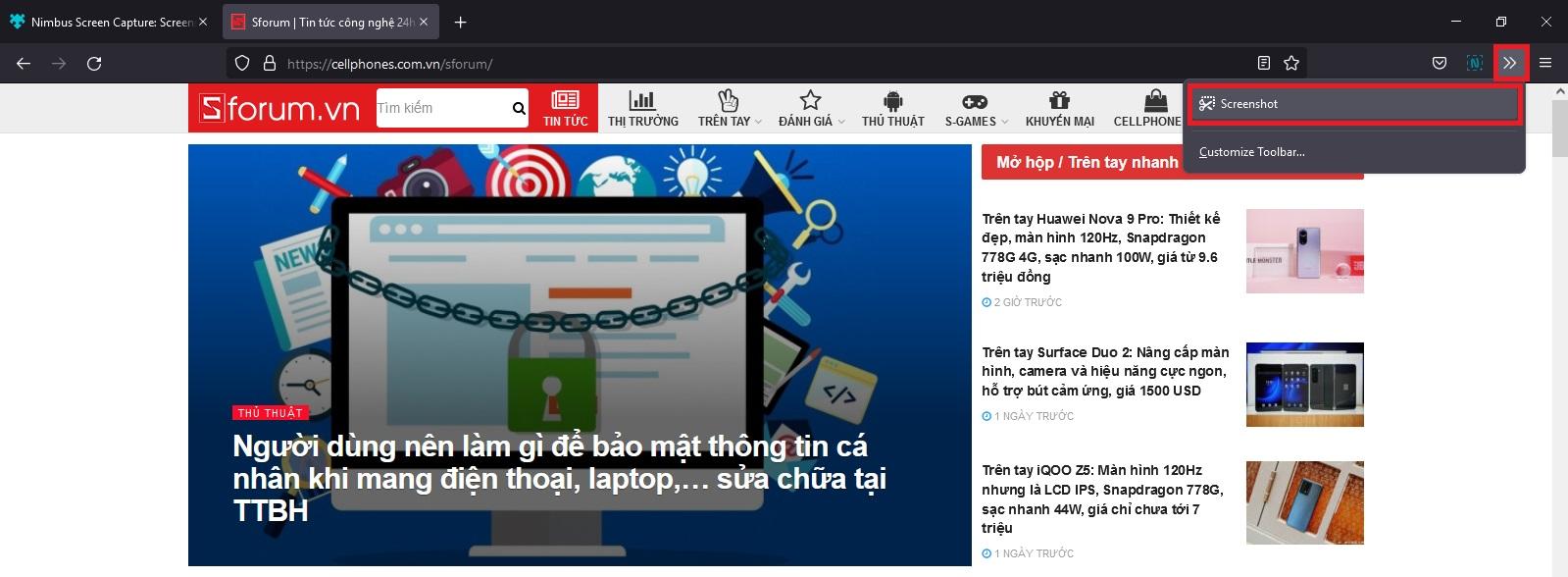 Sforum - Trang thông tin công nghệ mới nhất Screenshot-2021-09-25-184016 Hướng dẫn chụp màn hình toàn trang trên Chrome và Firefox